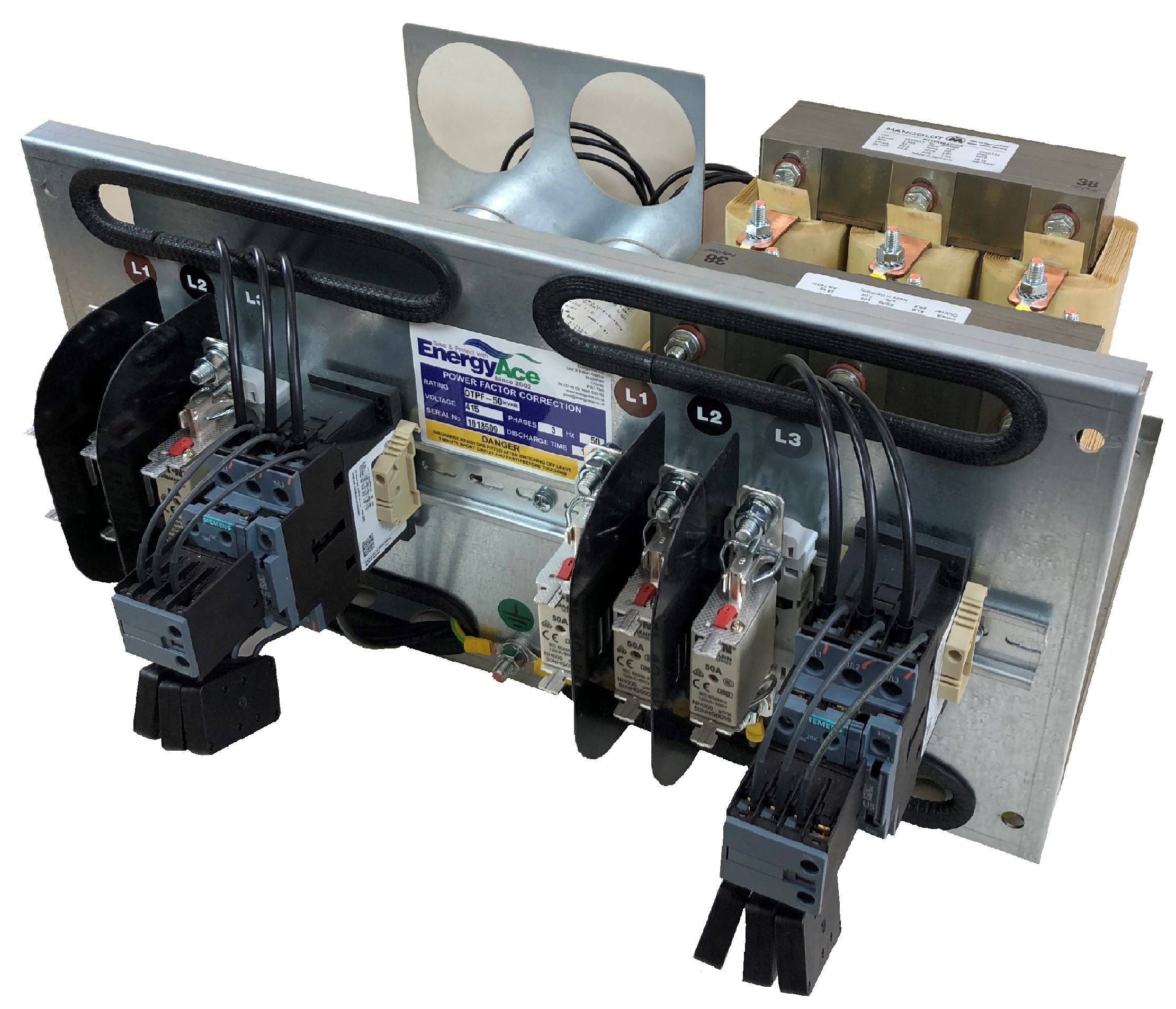 to promote a detuned Power factor correction capacitor tray 2 stage